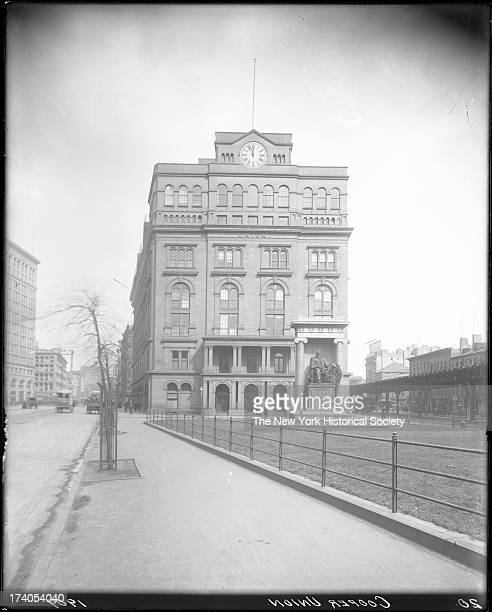 Cooper Union Astor Place between Fourth Avenue and Bowery built 1859 Frederick Peterson architectNew York New York late 1900s