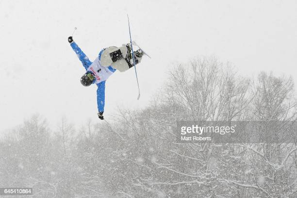 Cooper WoodsTopalovic of Australia during practice before the men's freestyle moguls on day nine of the 2017 Sapporo Asian Winter Games at Sapporo...