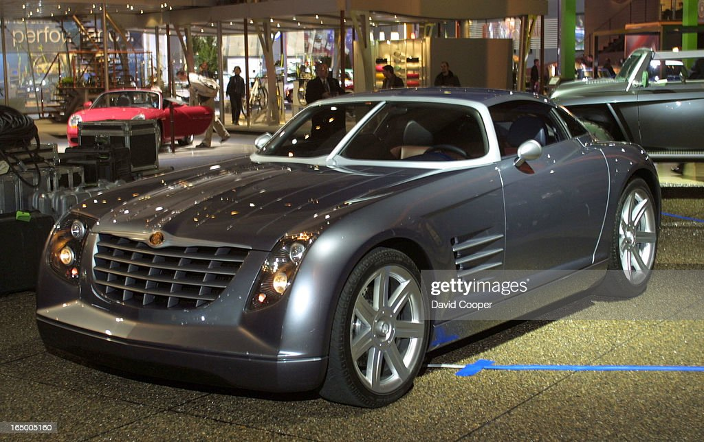 The Chrysler Crossfire Concept Car On Display At The North American  International Auto Show In Cobo