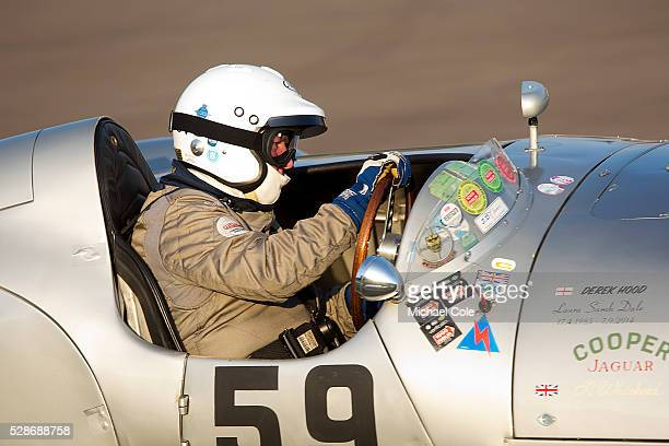 CooperJaguar T33 driven by Derek Hood at The Goodwood Revival Meeting 12th Sept 2014