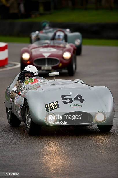 CooperJaguar T33 entered and driven by Derek Hood on the chicane in the wet during the Freddie March Memorial Trophy race at Goodwood on September 10...