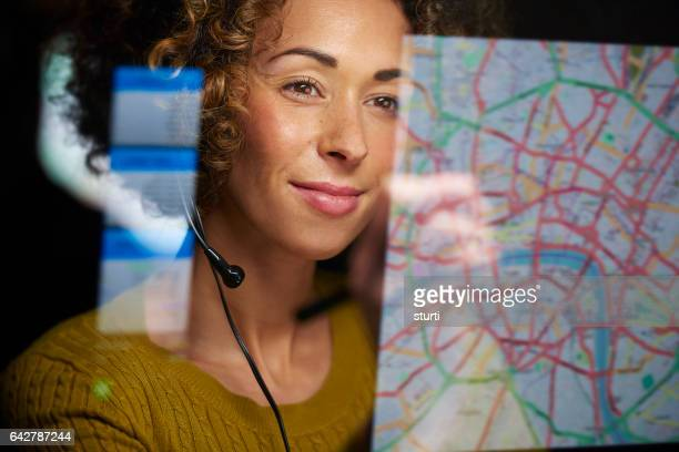 co-ordinating freight - maps stock photos and pictures