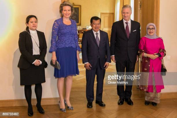 Coordinating Minister for Human Rights and Culture of Indonesia Puan Maharani Queen Mathilde of Belgium VicePresident of Indonesia Jusuf Kalla King...