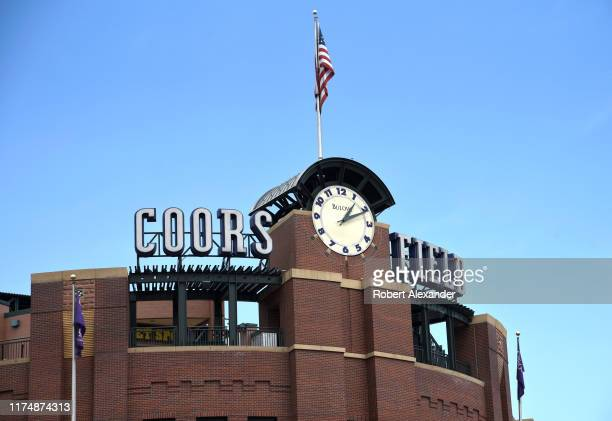 Coors Fields in Denver Colorado is the home stadium for the Colorado Rockies Major League Baseball team