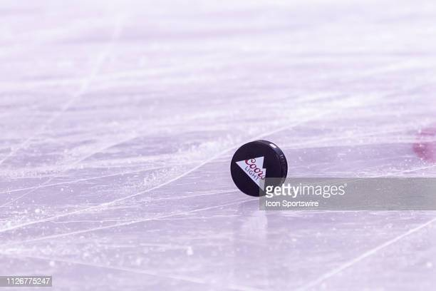 Coors Light placed their logos on practice pucks as a main sponsor for the Stadium Series game between the Pittsburgh Penguins and the Philadelphia...