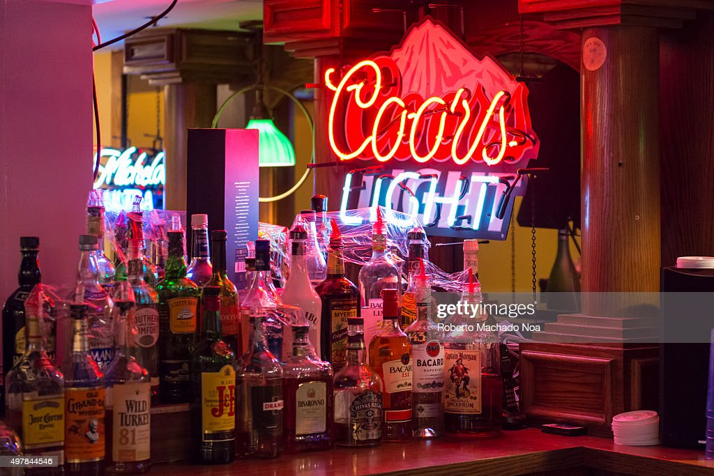 Coors light signage seen from inside a bar in new york city coors light signage seen from inside a bar in new york city united states aloadofball Images