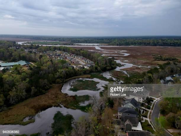 coosaw creek - ノースチャールストン ストックフォトと画像