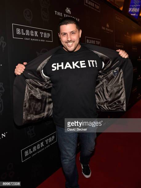 Coowner Joe Isidori attends the grand opening of Black Tap Craft Burgers Beer at The Venetian Las Vegas on December 29 2017 in Las Vegas Nevada