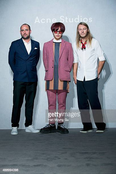 Coowner of Acne Studios Mikael Schiller GDragon aka Kwon JiYong of South Korean boy band Bigbang and guest attend the launch party for 'Acne Studio'...