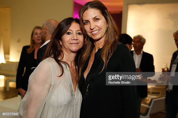 Co-owner of Diva Furniture Stephanie De Olivia and Stephanie Holdrin attend the store gala celebrating 50 Years of B&B Italia and 30 Years of Diva...