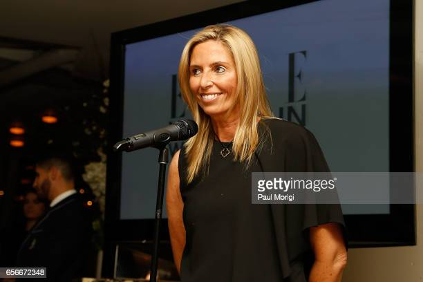 Coowner of Fabio Trabocchi Restaurants Maria Trabocchi speaks at ELLE and Bottega Veneta Women in Washington dinner hosted by Robbie Myers ELLE...