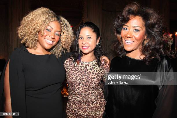 Coowner of Miss Jessie's Titi Branch Angela Yee and Coowner of Miss Jessie's Miko Branch attend the Target salute to Miko Branch and Titi Branch to...