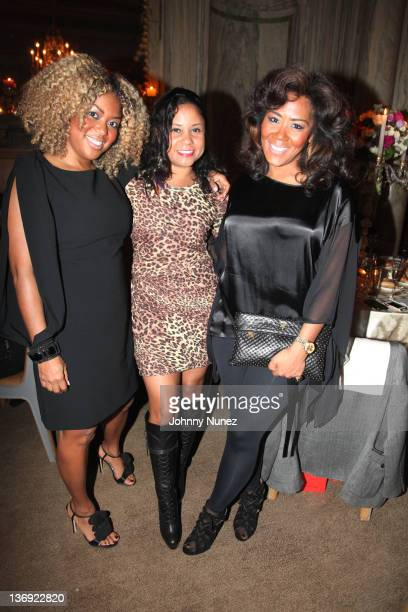 Coowner of Miss Jessie's Titi Branch radio personality Angela Yee and coowner of Miss Jessie's Miko Branch attend the Target salute to Miko Branch...