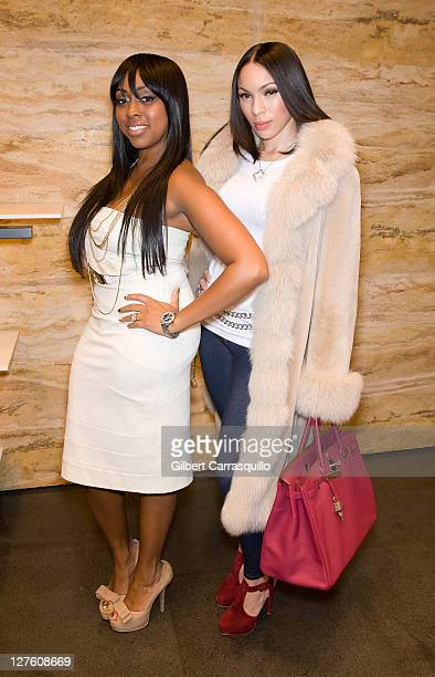 Coowner of PNK Elephant Kijafa Frink and Gia Casey attend the PNK Dress Charity Foundation launch at the Fendi 5th Avenue Boutique on February 24...