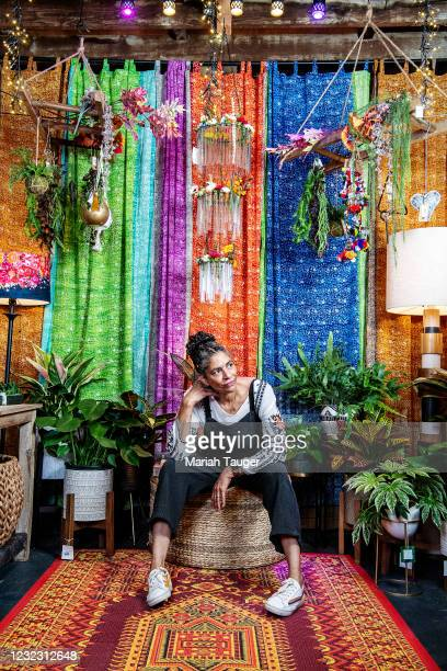 Co-owner of Tansy, Shawna Christian, inside Tansy on Tuesday, Feb. 23, 2021 in Burbank, CA.