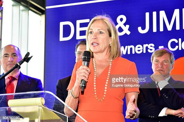 Coowner of the Cleveland Browns Dee Haslam speaks onstage during the 29th Annual Leigh Steinberg Super Bowl Party on February 6 2016 in San Francisco...