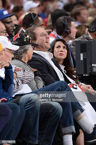 CoOwner of the Golden State Warriors Joe Lacob attends Game Four of the Western Conference Semifinals between the Golden State Warriors and Portland...