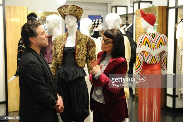Coowner of What Goes Around Comes Around Gerard Maione and fashion designer Norma Kamali attend Vintage For The Future A Norma Kamali Retrospective...