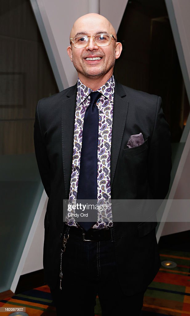 Co-owner/ stylist at Mizu Damian Santiago attends the Gotham Magazine & Moroccanoil Celebrate With Step Up Women's Network event on February 18, 2013 in New York City.