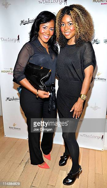 Coowners of Miss Jessie and sisters Titi and Miko Branch attend the 2011 Diva Lounge celebration at the Tracy Reese Boutique on May 18 2011 in New...