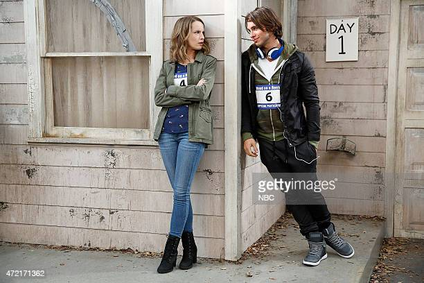 UNDATEABLE Cop Number Four Walks Into A Bar Episode 208 Pictured Bridgit Mendler as Candace Adam Hagenbuch as Trent