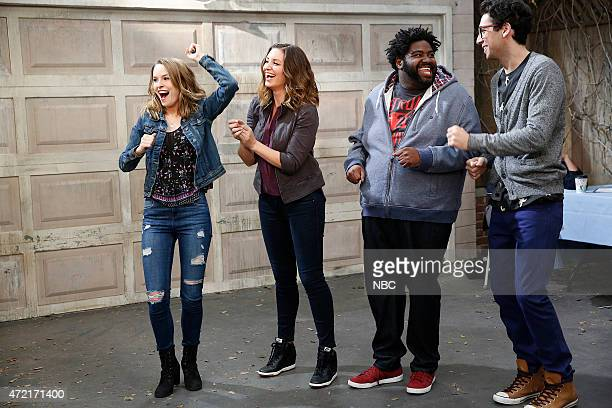 UNDATEABLE Cop Number Four Walks Into A Bar Episode 208 Pictured Bridgit Mendler as Candace Bianca Kajlich as Leslie Ron Funches as Shelly Rick...