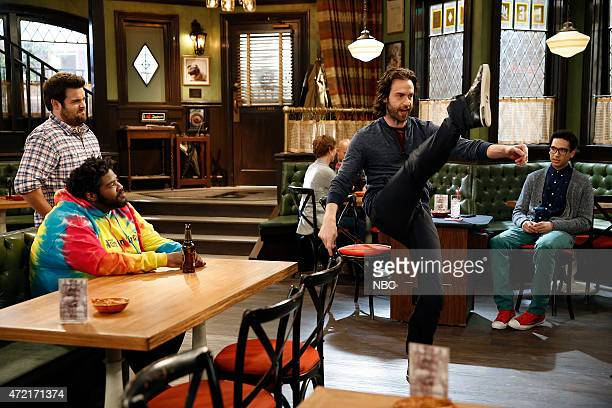 UNDATEABLE Cop Number Four Walks Into A Bar Episode 208 Pictured Ron Funches as Shelly David Fynn as Brett Chris D'Elia as Danny Rick Glassman as...