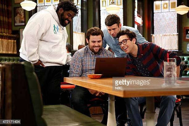 UNDATEABLE Cop Number Four Walks Into A Bar Episode 208 Pictured Ron Funches as Shelly David Fynn as Brett Brent Morin as Justin Rick Glassman as...