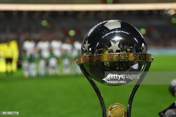 Copa Sudamericana is displayed prior to the Suruga Bank Championship match between Urawa Red Diamonds and Chapecoense at Saitama Stadium on August 15...