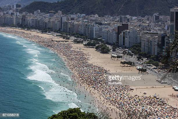Copacabana and Leme top views Summer officially begins in Brazil only on 21 December but the beaches of Rio de Janeiro already experiencing summer...