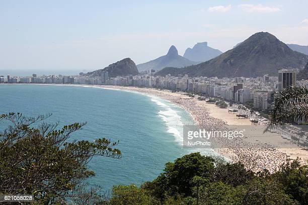 Copacabana and Leme top views Summer officially begins in Brazil only on 21 December but the beaches of Rio de Janeiro already experiencing summer...