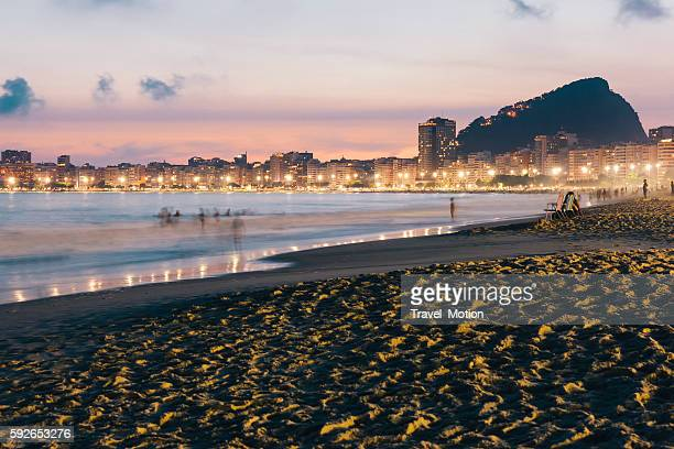 Copacabana Beach at night, Rio de Janeiro