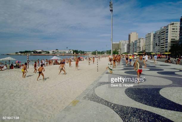copacabana beach at rio - copacabana stock pictures, royalty-free photos & images