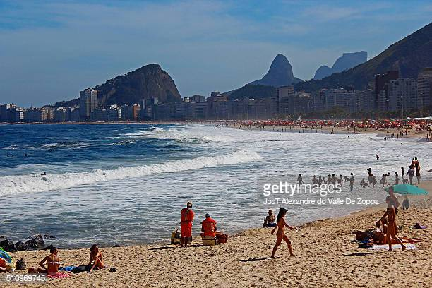 Copacabana beach located at the Atlantic shore stretches from Posto Dois to Posto Seis Leme is at Posto Um There are historic forts at both ends of...