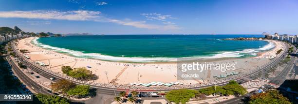 copacabana beach panorama - copacabana beach stock pictures, royalty-free photos & images