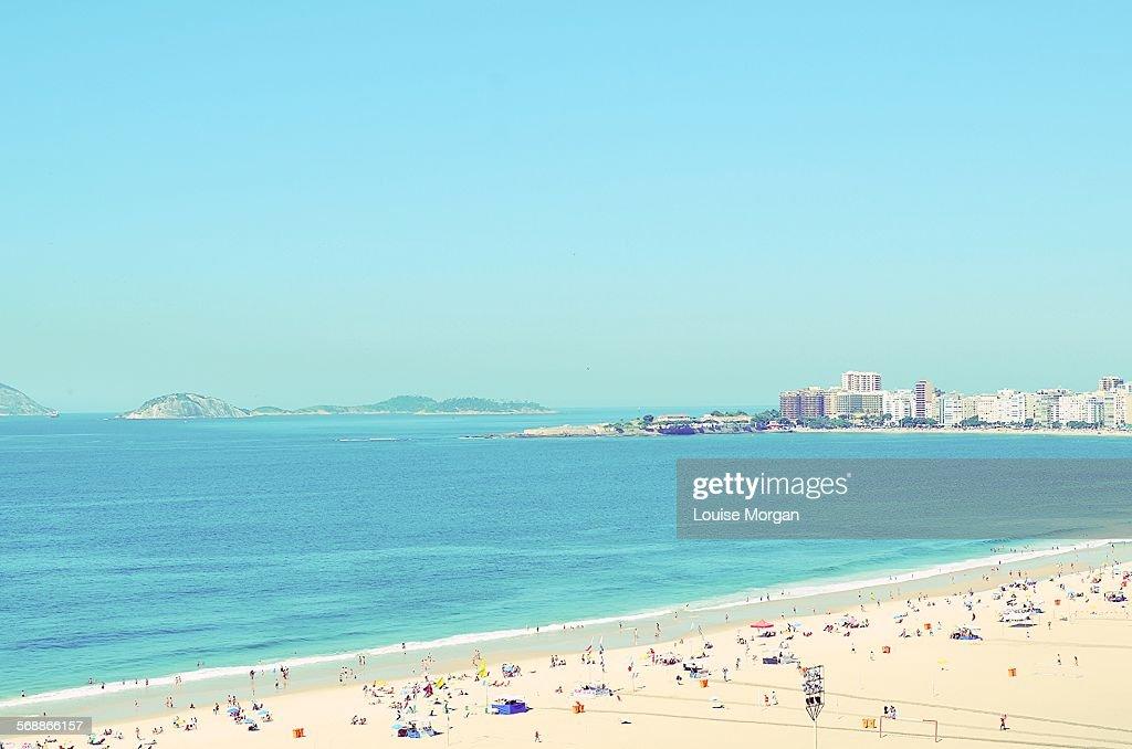 Copacabana Beach, Rio de Janeiro : Stock Photo
