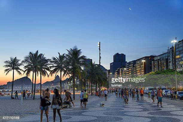 copacabana beach summer day afternoon - jock strap stock photos and pictures