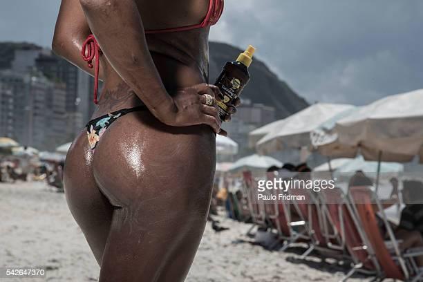 Copacabana's beach Rio de Janeiro Brazil on Tuesday February 18th 2014
