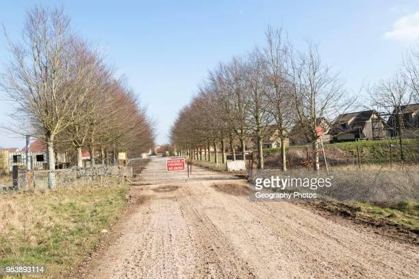 Copehill Down FIBUA village military training area Fighting In Built Up Areas Chitterne Salisbury Plain Wiltshire England UK