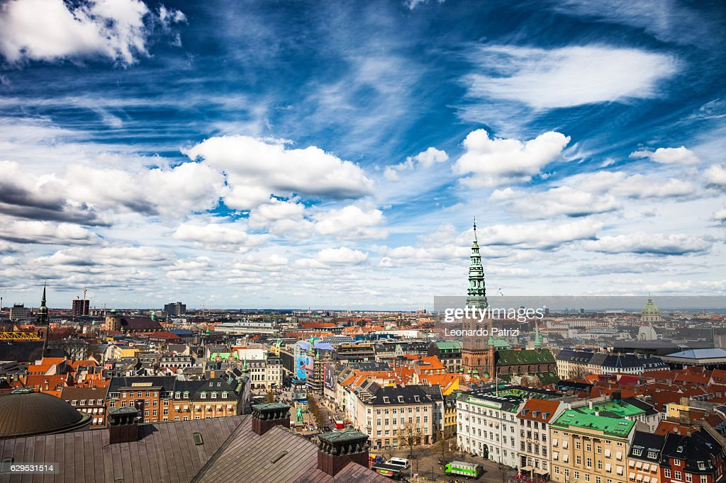 Copenhagen aerial view cityscape : Stock Photo