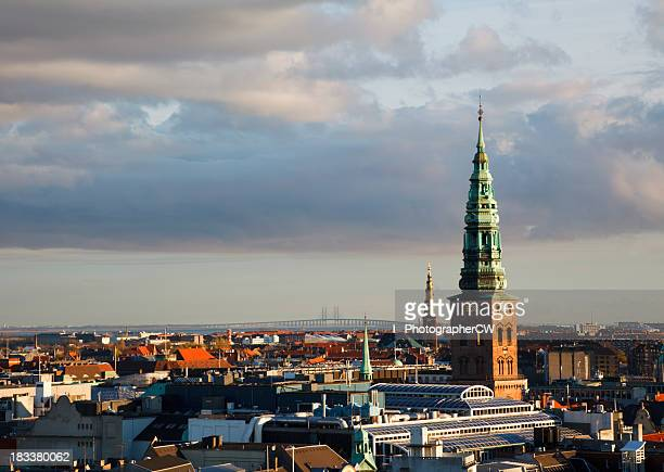 Copenhagen autumn skyline