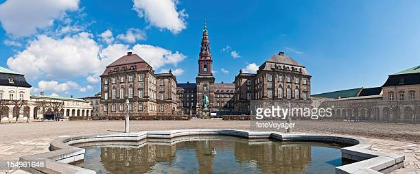 copenhagen christiansborg palace danish parliament building panorama denmark - christiansborg palace stock pictures, royalty-free photos & images