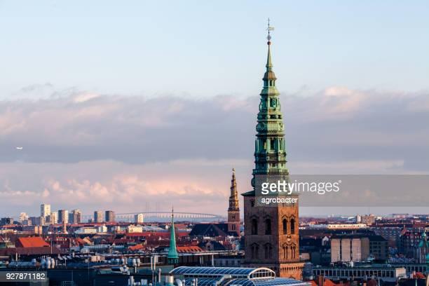 Copenhagen city center at sunset light (Copenhagen, Denmark)