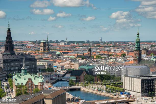 Copenhagen city center skyline , Denmark