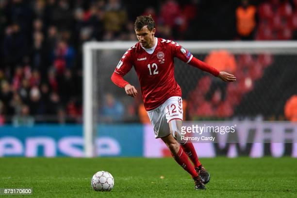 Copenhagen Denmark 11 November 2017 Andreas Bjelland of Denmark during the FIFA 2018 World Cup Qualifier Playoff 1st Leg match between Denmark and...
