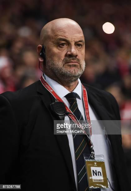 Copenhagen Denmark 11 November 2017 Bobby Ward head of Republic of Ireland team security during the FIFA 2018 World Cup Qualifier Playoff 1st Leg...