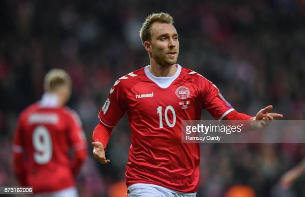 Copenhagen Denmark 11 November 2017 Christian Eriksen of Denmark during the FIFA 2018 World Cup Qualifier Playoff 1st Leg match between Denmark and...