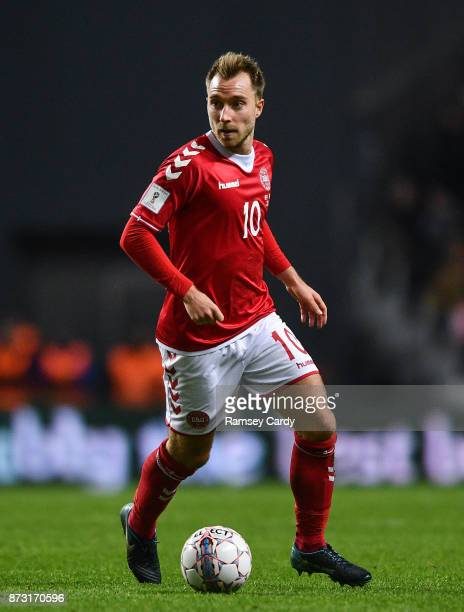 Copenhagen Denmark 11 November 2017 Christian Eriksen of Denmark during the FIFA 2018 World Cup Qualifier Playoff 1st Leg match between Denmark and...