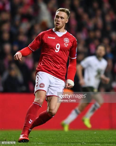 Copenhagen Denmark 11 November 2017 Nicolai Jørgensen of Denmark during the FIFA 2018 World Cup Qualifier Playoff 1st Leg match between Denmark and...