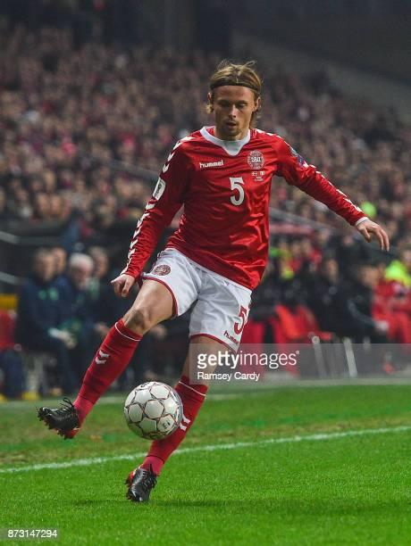 Copenhagen Denmark 11 November 2017 Riza Durmisi of Denmark during the FIFA 2018 World Cup Qualifier Playoff 1st Leg match between Denmark and...